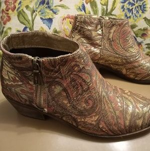 Pink Paisley Very Volatile Ankle Boots